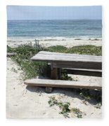 Sandy Picnic Table Fleece Blanket