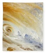 Sandy Wave Crashing Fleece Blanket
