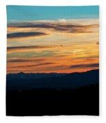 Sangre De Cristo Mountain Sunst Fleece Blanket