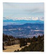 Sangre De Cristo Mountain Valley Fleece Blanket