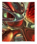 Sanguine Abstract Fleece Blanket