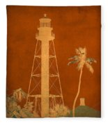 Sanibel Island Lighthouse Fleece Blanket