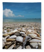 Sanibel Island Sea Shell Fort Myers Florida Broken Shells Fleece Blanket