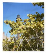 Sanibel Lighthouse Fleece Blanket