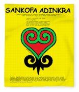 Sankofa Adinkra Fleece Blanket