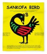 Sankofa Bird Of Knowledge Fleece Blanket