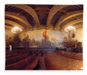 Santa Barbara Court House Mural Room Photograph Fleece Blanket