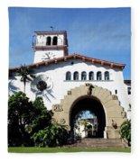 Santa Barbara Courthouse -by Linda Woods Fleece Blanket