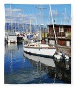 Santa Barbara Harbor Fleece Blanket