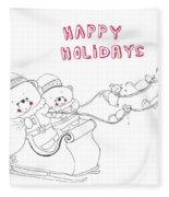 Santa Bear Fleece Blanket