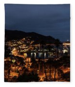 Santa Catalina Island Nightscape Fleece Blanket