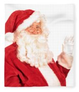Santa Claus Waving Hand Fleece Blanket