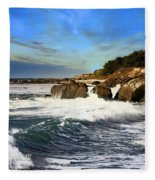 Santa Cruz Coastline Fleece Blanket