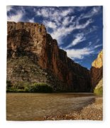 Santa Elena Canyon 1 Fleece Blanket