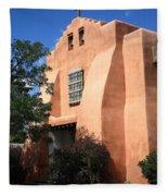Santa Fe - Adobe Church Fleece Blanket