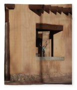 Santa Fe Adobe Window Fleece Blanket