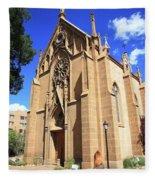 Santa Fe Church Fleece Blanket