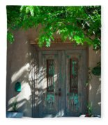 Santa Fe Door Fleece Blanket