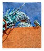 Santa Fe Dragon Fleece Blanket