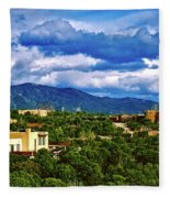 Santa Fe New Mexico Fleece Blanket