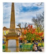 Santa Fe Obelisk A Pigeon And An Accordian Player Fleece Blanket