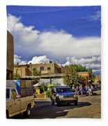 Santa Fe Plaza 2 Fleece Blanket