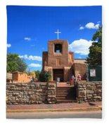 Santa Fe - San Miguel Chapel 6 Fleece Blanket
