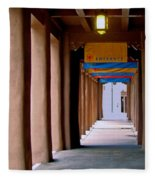 Santa Fe Sidewalk Fleece Blanket