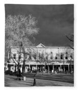 Santa Fe Town Square Fleece Blanket