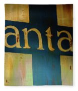 Santa Fe Vintage Sign Fleece Blanket