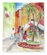 Santa Margherita In Italy 05 Fleece Blanket