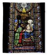 Santa Maria De Montserrat Abbey Fleece Blanket