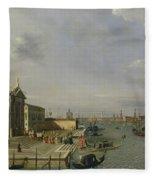Santa Maria Della Salute - Venice  Fleece Blanket