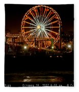 Santa Monica Pier October 18 2007  Fleece Blanket