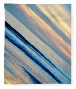 Santa Monica Sunset Fleece Blanket