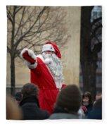 Santa Says Hello Fleece Blanket