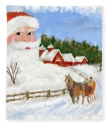 Santas Beard Fleece Blanket