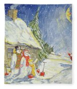 Santa's Visit Fleece Blanket