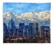 Santiago De Chile, Chile Fleece Blanket