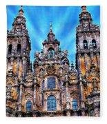Santiago De Compostela Cathedral Fleece Blanket