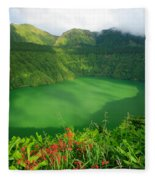 Santiago Lake Fleece Blanket