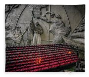 Santo Nino Candles Fleece Blanket