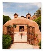 Santo Nino De Atocha Chimayo New Mexico Fleece Blanket