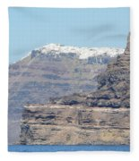 Santorini Fira Fleece Blanket