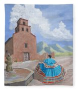Santurario De Guadalupe Fleece Blanket