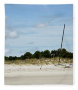 Sapelo Island Boats Fleece Blanket