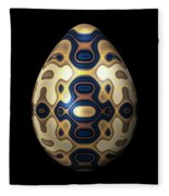 Sapphire And Gold Imperial Easter Egg Fleece Blanket