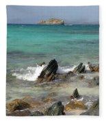 Sapphire Beach Fleece Blanket