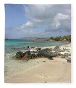 Sapphire Beach St. Thomas Fleece Blanket