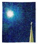 Sapphire Moon Glow Fleece Blanket